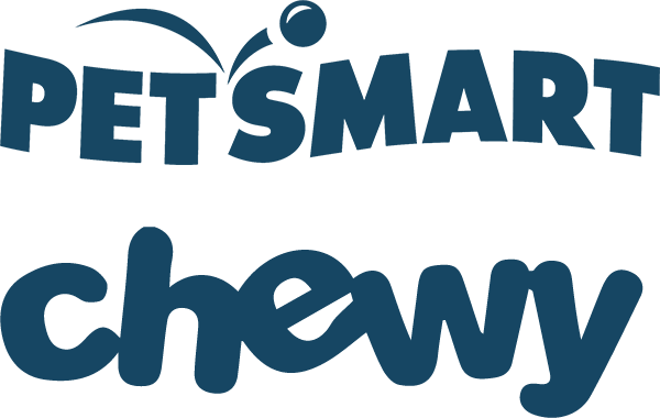 PetSmart logo and Chewy logo